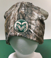 CSU Rams Green Camo Beanie
